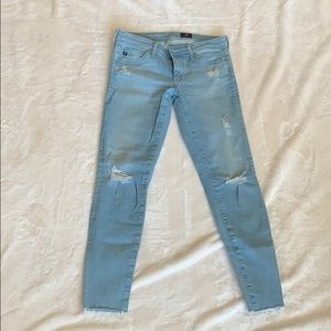 AG light wash jeans